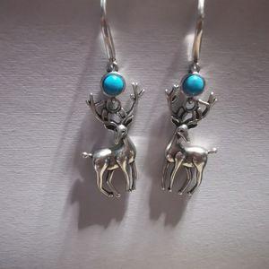 Sterling silver elk eardrops